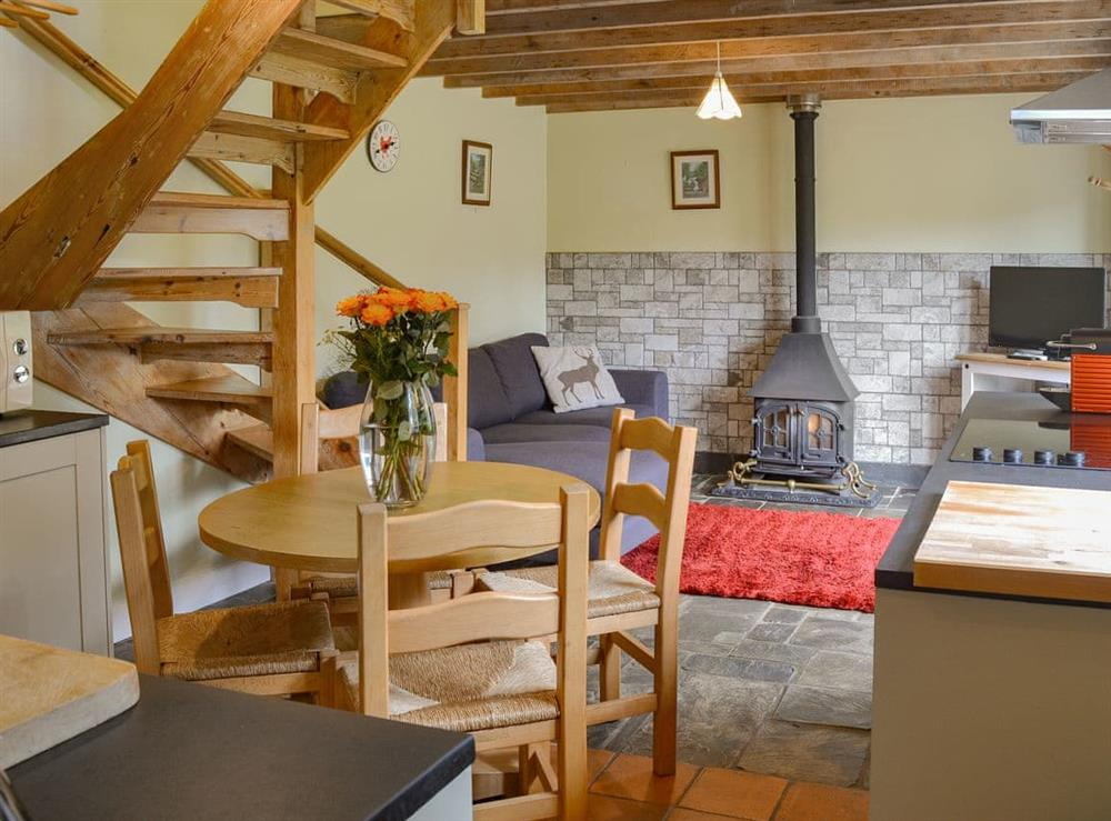 Characterful open plan living space at The Woodshed,