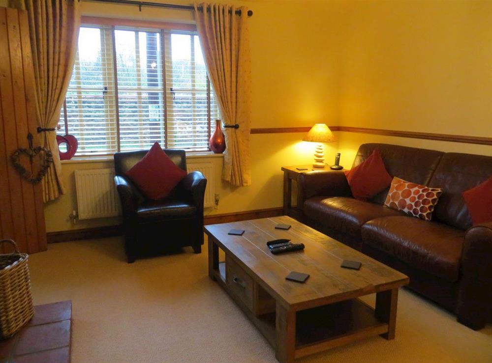 Living room at Mulberry Cottage in Heacham, near Hunstanton, Norfolk, England