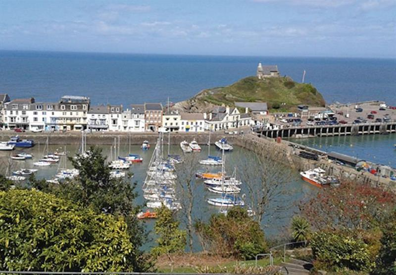 Ilfracombe Harbour at Mullacott Park in North Devon, South West of England