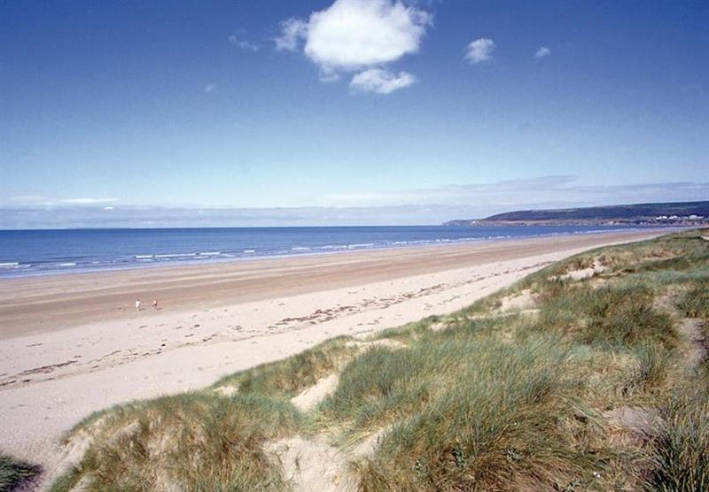 Woolacombe Beach at Mullacott Park in North Devon, South West of England