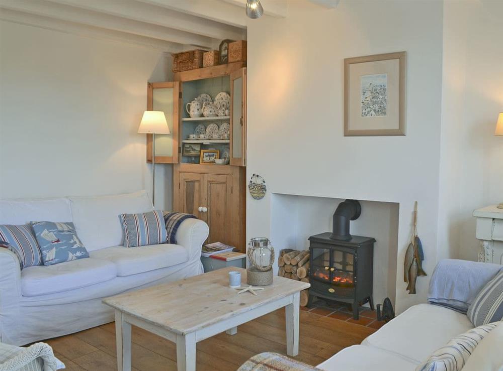 Charmingly furnished living room at Mur Llwyd in Rhoshirwaun, near Pwllheli, Gwynedd