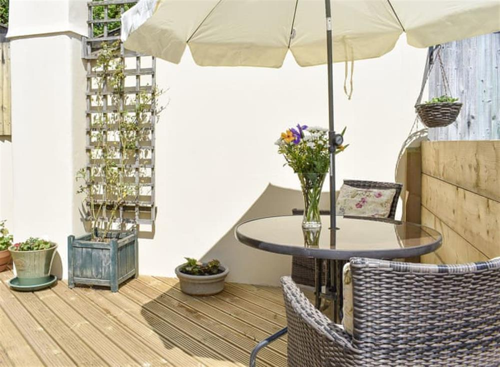 Outdoor furniture on the patio