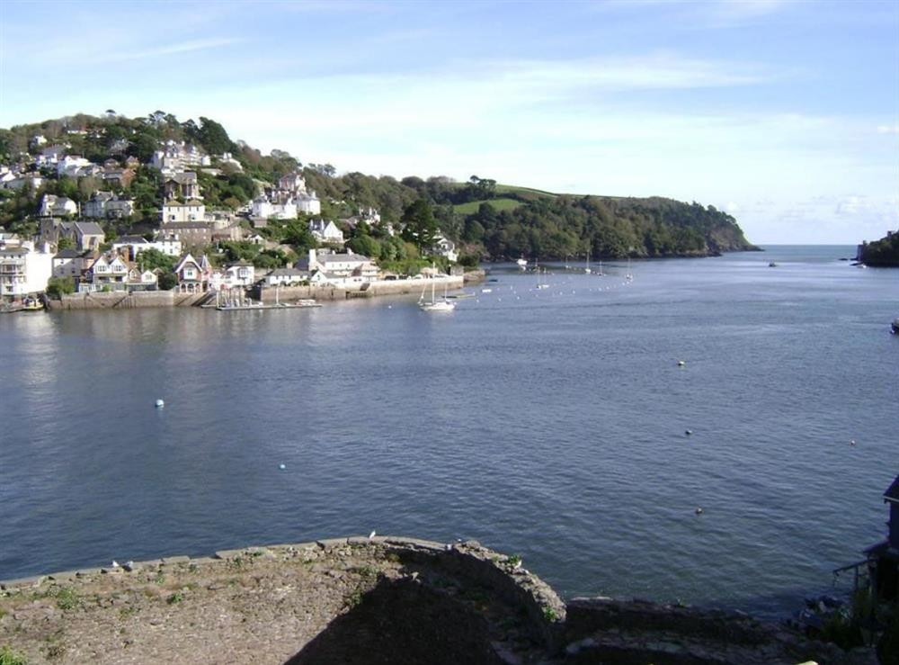 View from the balcony at Nelson Steps 3 in Dartmouth, Devon