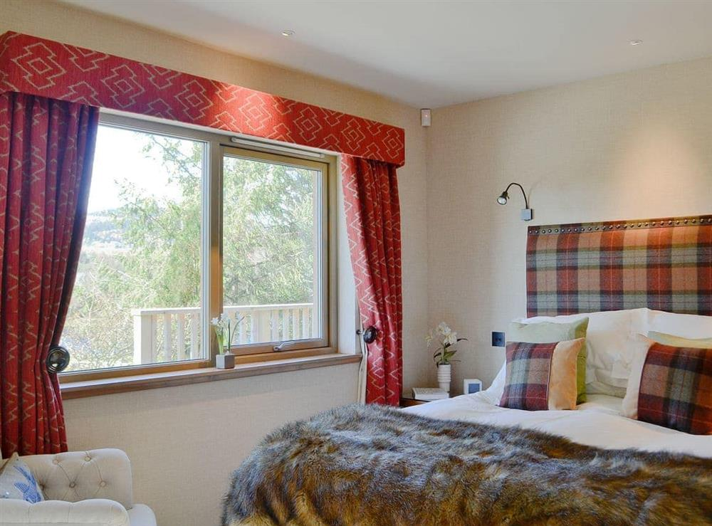 Double bedroom at Red Squirrel Lodge,