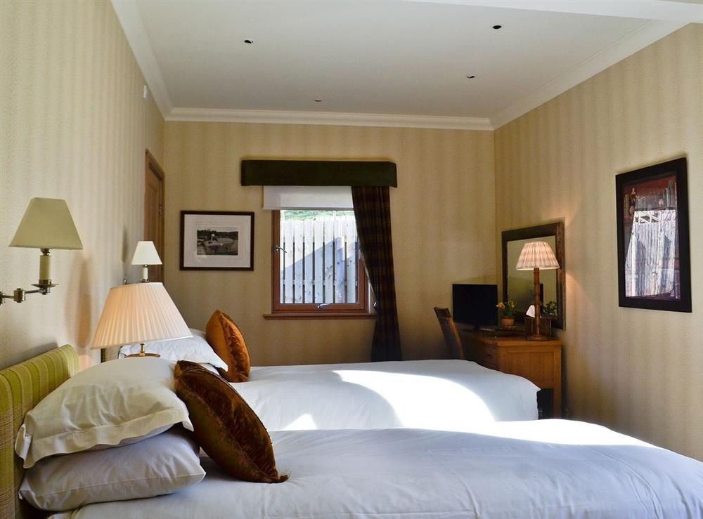 Twin bedroom at River Lodge,