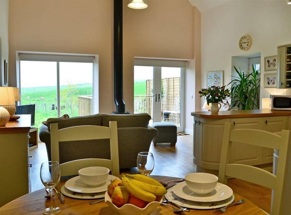 Impressive open plan living space at Bridge Cottage,
