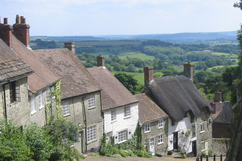 Gold Hill in Shaftesbury at New Inn Farmhouse in Marnhull, near Shaftesbury, Dorset