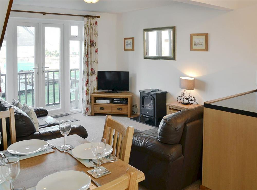 Contemporary open-plan living space at Nightingale in Wroxham, Norfolk