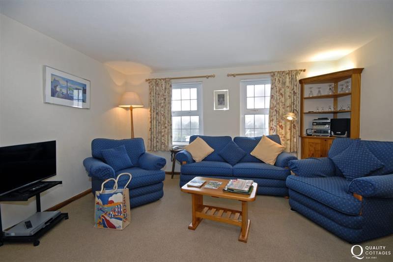 Living room at Nine Wells Apartment, Pembrokeshire