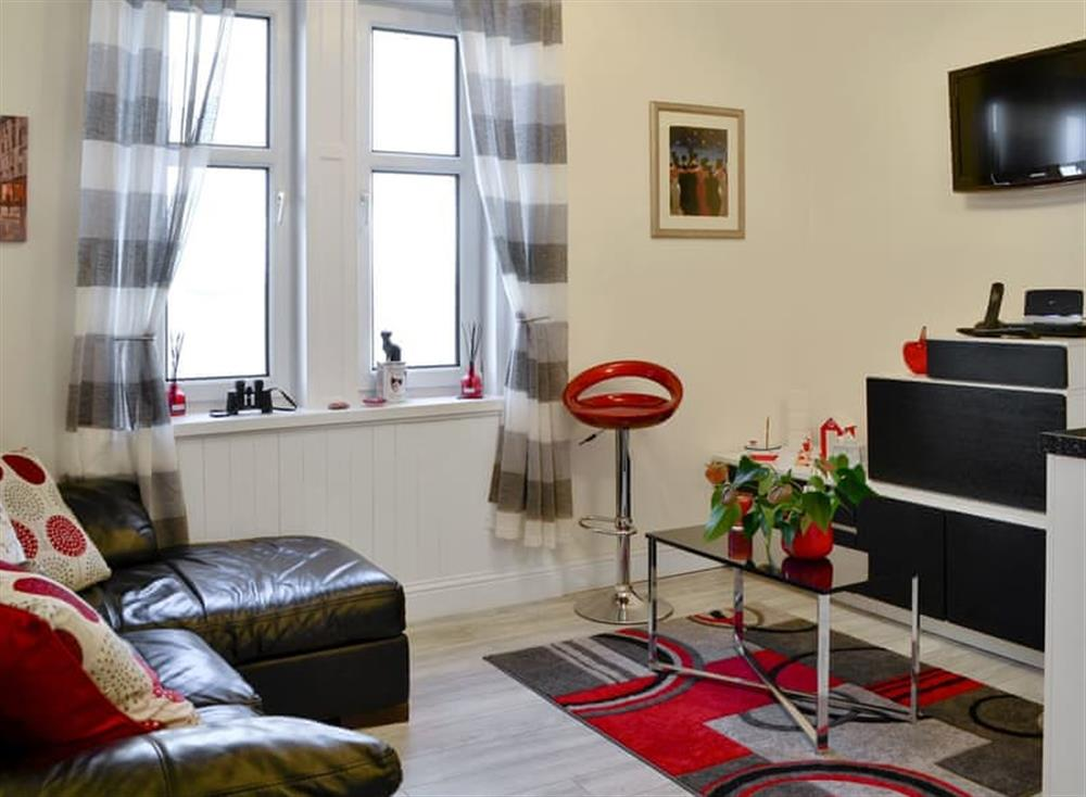 Open plan living space at Noisirrom in Blackness, West Lothian