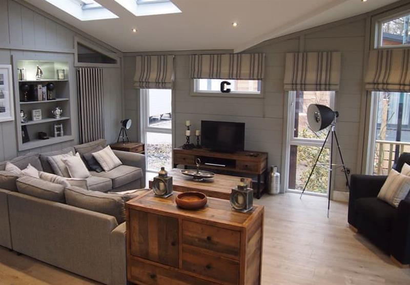 The living room in the Signature at Norfolk Park in North Walsham, Norfolk