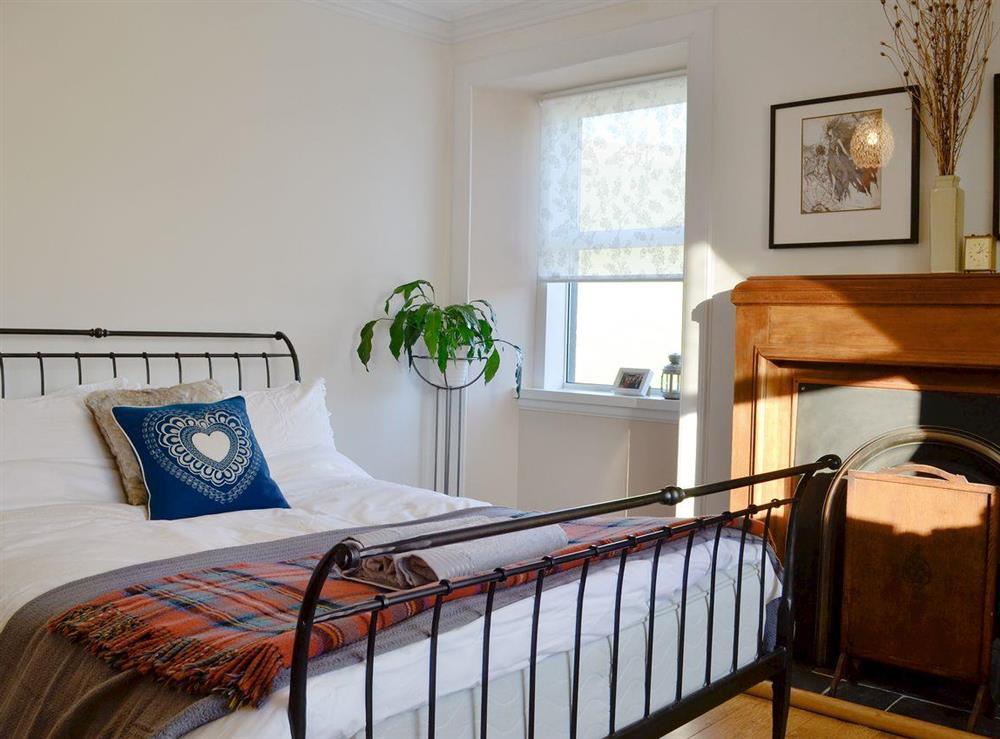 Comfy double bedroom at North Balloch Farmhouse in Barr, near Girvan, Ayrshire