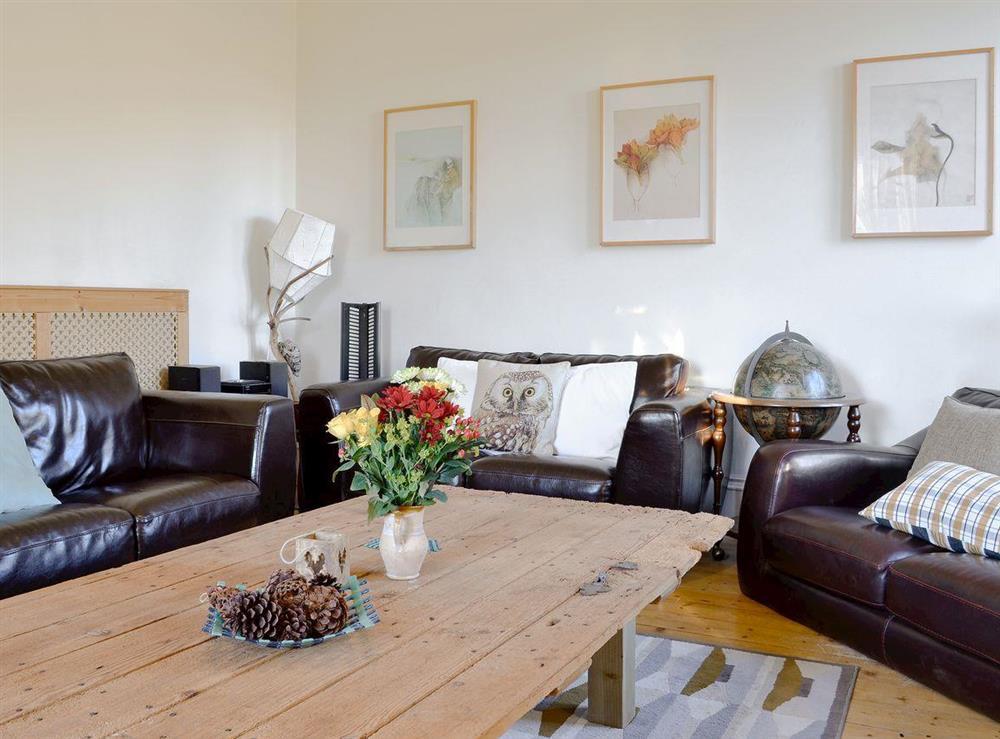 Cosy living room at North Balloch Farmhouse in Barr, near Girvan, Ayrshire
