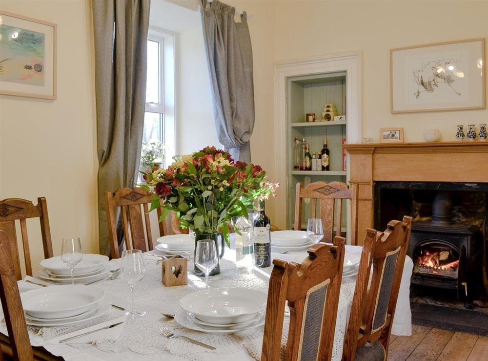 Dining room at North Balloch Farmhouse in Barr, near Girvan, Ayrshire