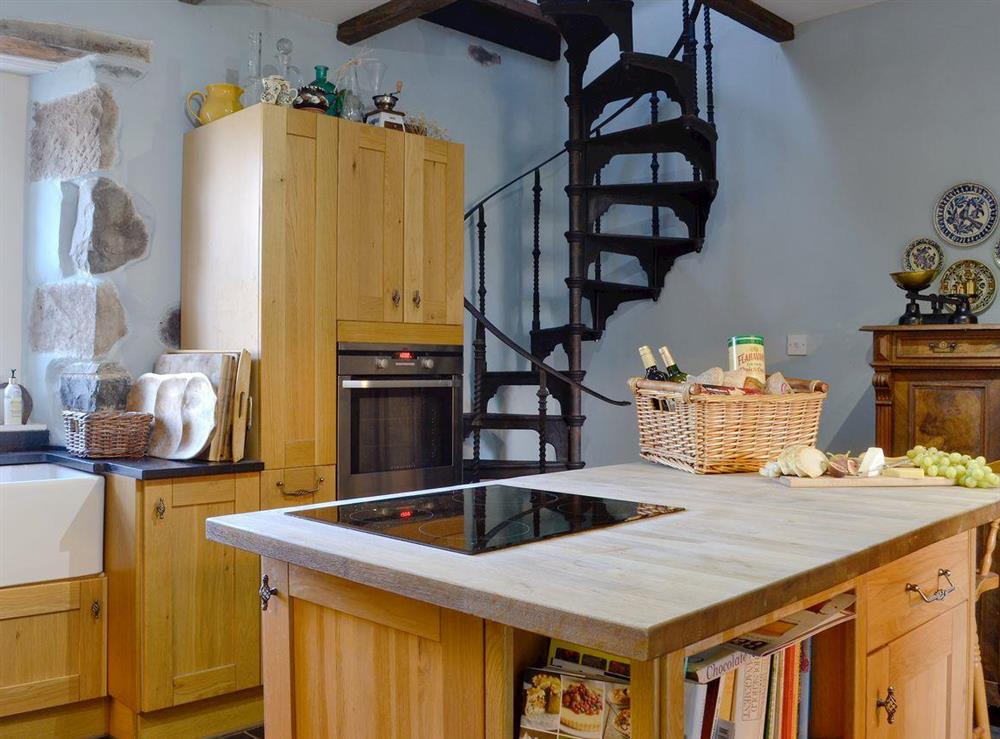 Spacious, well equipped kitchen at North Balloch Farmhouse in Barr, near Girvan, Ayrshire