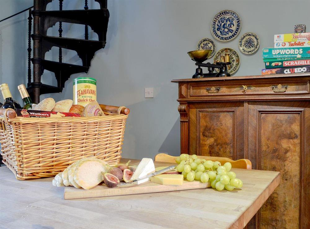 Welcome pack at North Balloch Farmhouse in Barr, near Girvan, Ayrshire