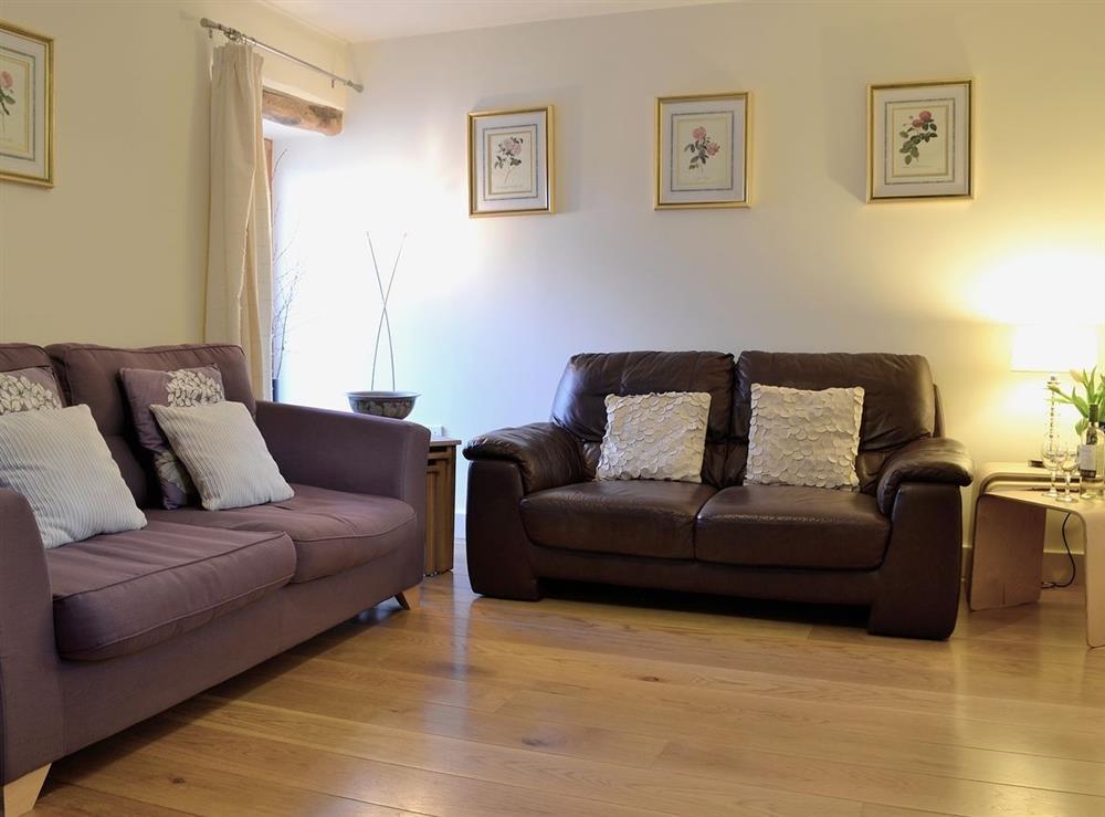 Living room at Oak Barn in Diptford, Nr. Totnes, S. Devon., Great Britain