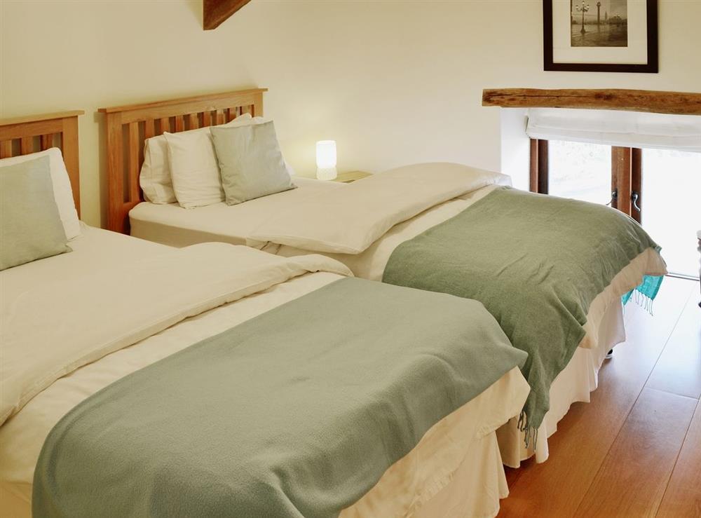Twin bedroom at Oak Barn in Diptford, Nr. Totnes, S. Devon., Great Britain