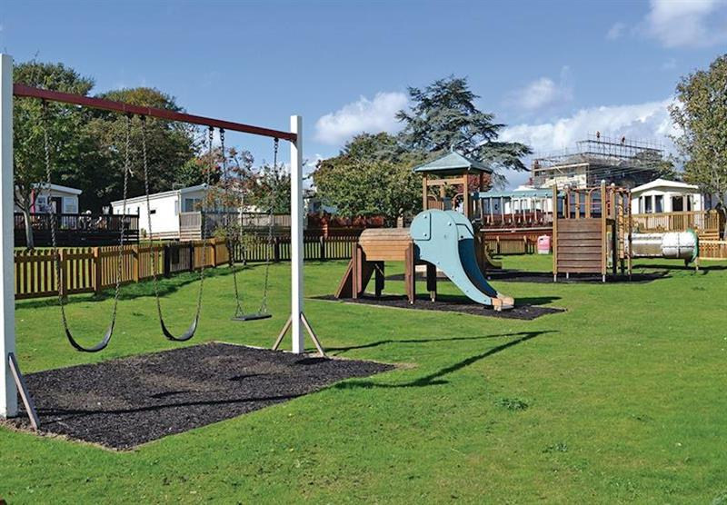 Children's play area at Oakcliff Holiday Park in Dawlish, South Devon