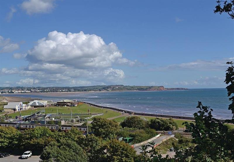 Views across the park at Oakcliff Holiday Park in Dawlish, South Devon