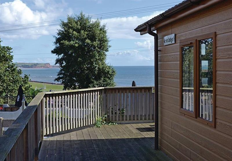 Views from the Acorn Lodge at Oakcliff Holiday Park in Dawlish, South Devon