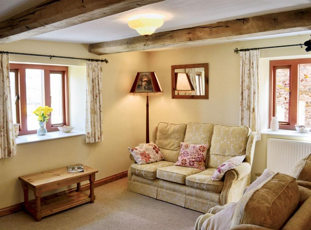 Living room at Oast House in Bromyard, Hereford., Herefordshire