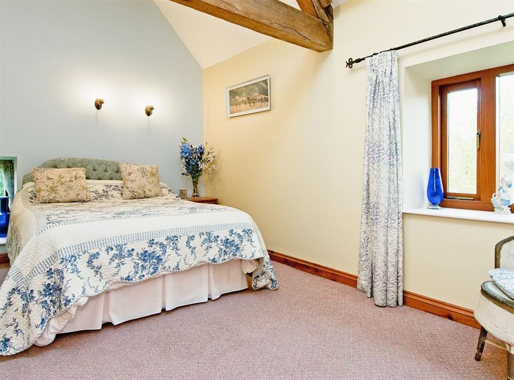 Master bedroom at Oast House in Bromyard, Hereford., Herefordshire