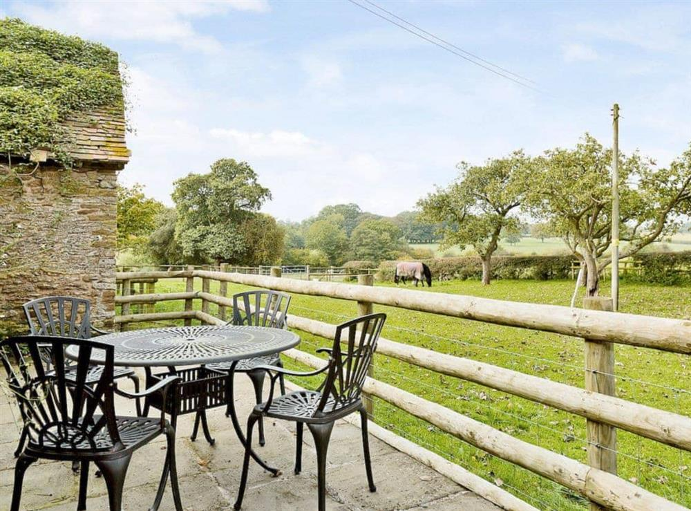 Patio at Oast House in Bromyard, Hereford., Herefordshire