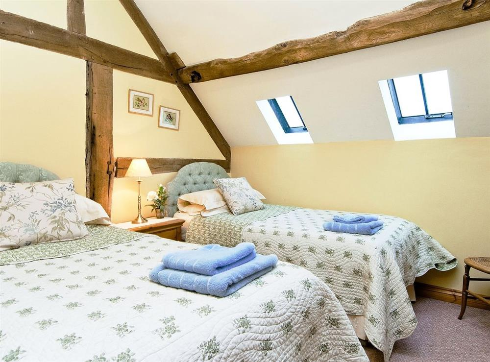 Twin bedroom at Oast House in Bromyard, Hereford., Herefordshire