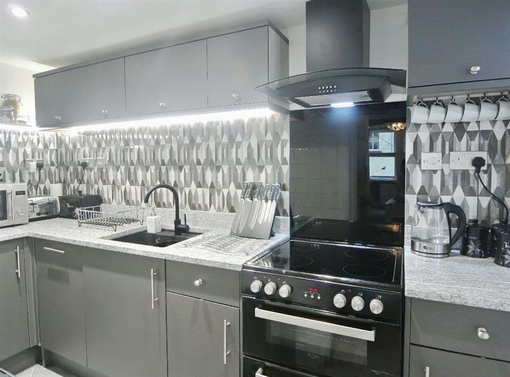Modern kitchen at Ocello in Ocello, Devon