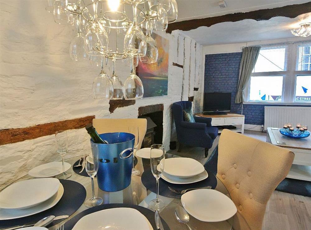 Stylish dining area at Ocello in Ocello, Devon
