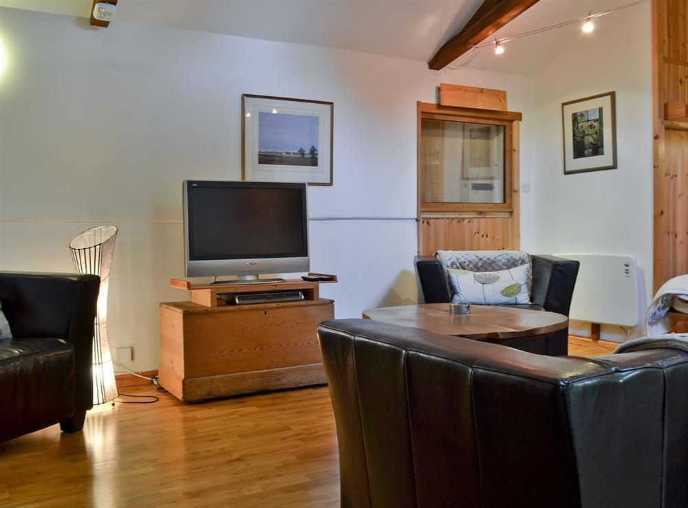 Living room at October House in Harleston, Norfolk