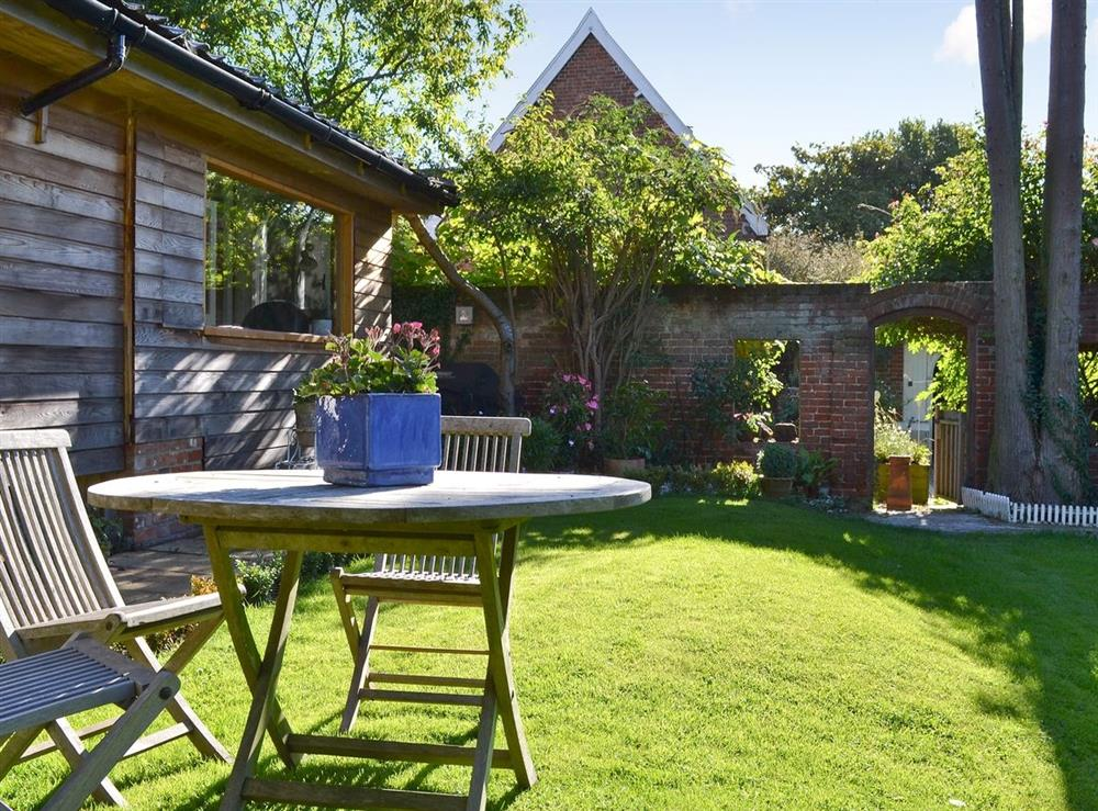Sitting-out-area at October House in Harleston, Norfolk