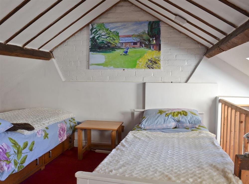 Twin bedroom at October House in Harleston, Norfolk
