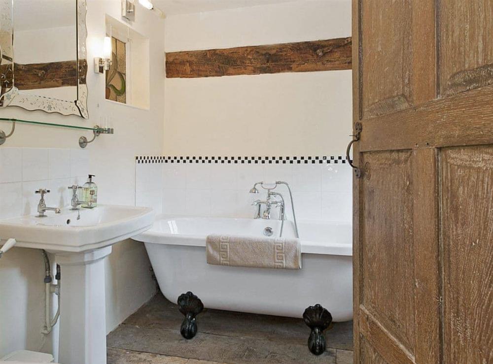 Bathroom at Old Hall Farmhouse in St Nicholas, Harleston, Norfolk., Great Britain