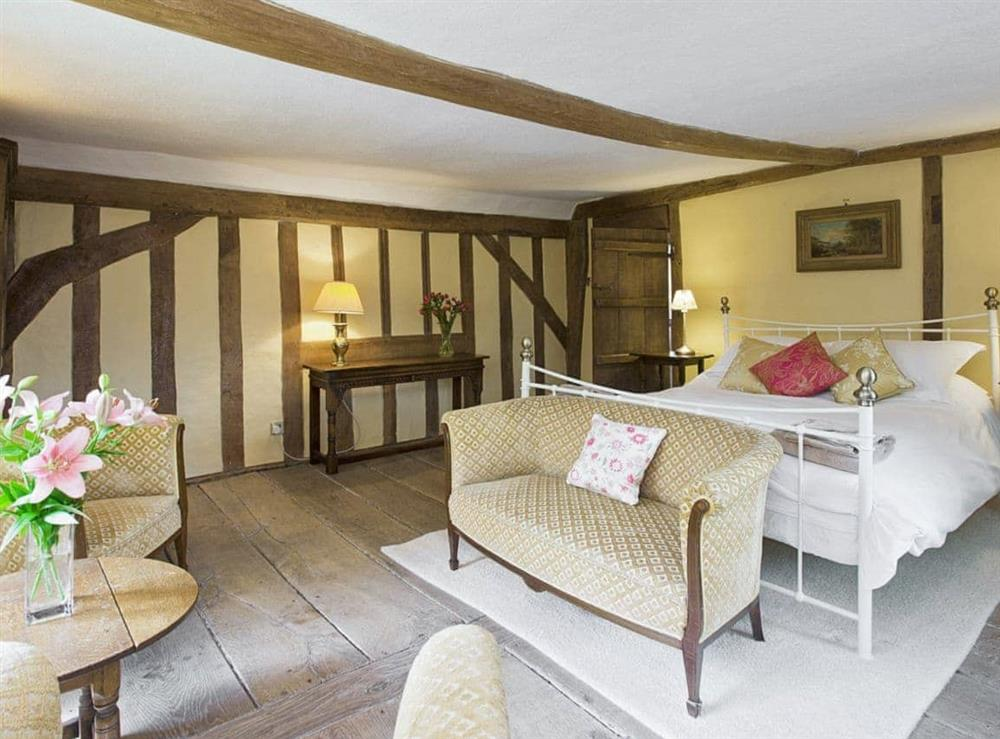 Double bedroom at Old Hall Farmhouse in St Nicholas, Harleston, Norfolk., Great Britain