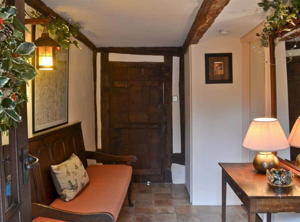 Hallway at Old Hall Farmhouse in St Nicholas, Harleston, Norfolk., Great Britain