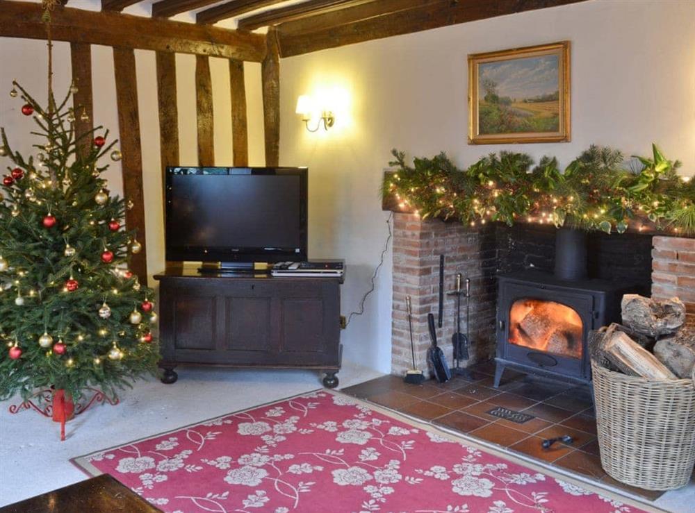 Living room at Old Hall Farmhouse in St Nicholas, Harleston, Norfolk., Great Britain