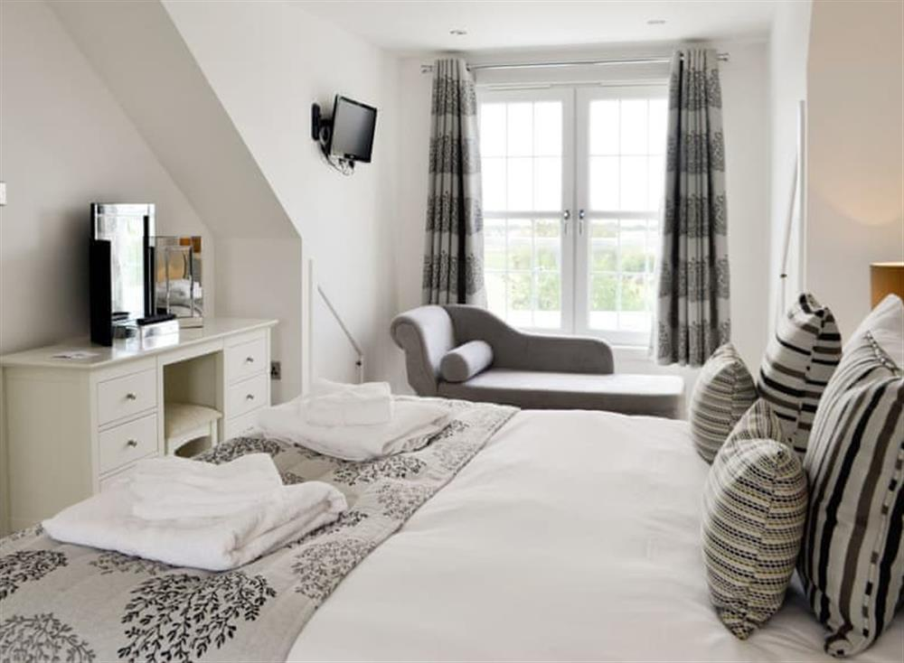 Comfortable first floor double bedroom at Old Loans Cottage in Loans, near Troon, Ayrshire