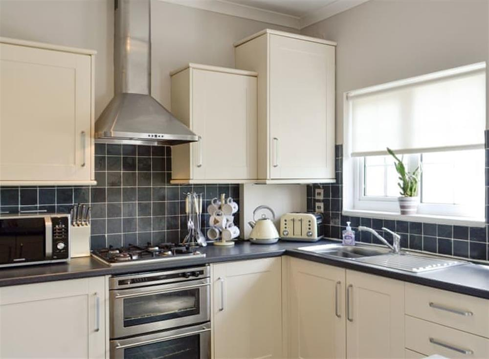 Fully appointed kitchen at Old Loans Cottage in Loans, near Troon, Ayrshire