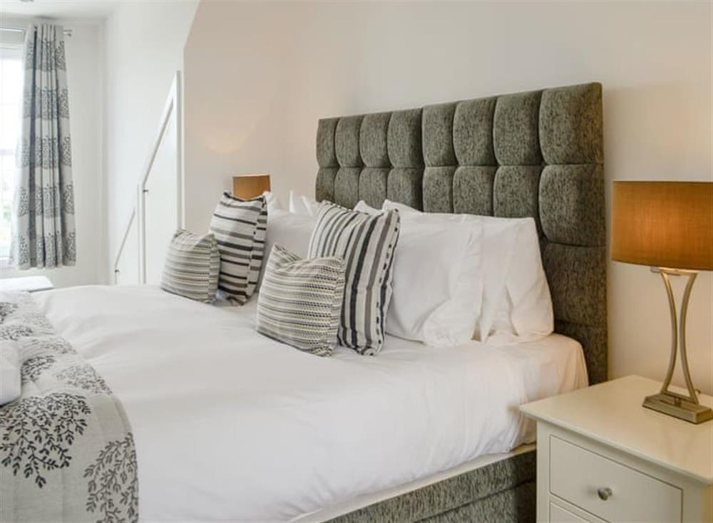 Peaceful first floor double bedroom at Old Loans Cottage in Loans, near Troon, Ayrshire