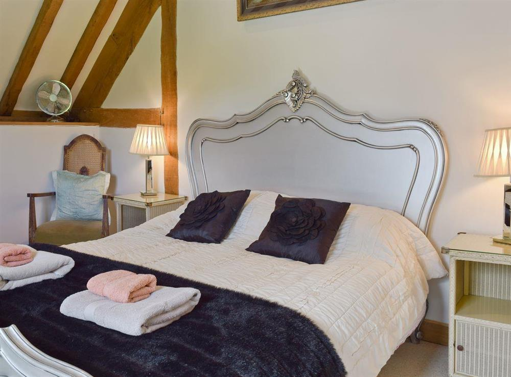 Comfortable double bedroom at Falstaff Cottage,
