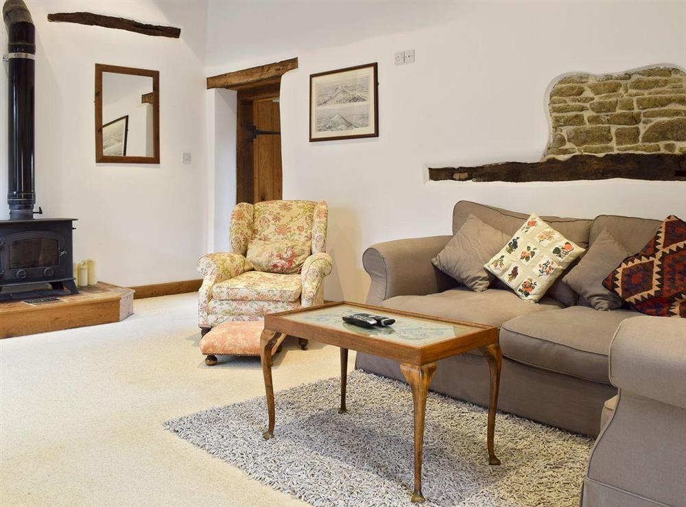 Spacious living area at Falstaff Cottage,