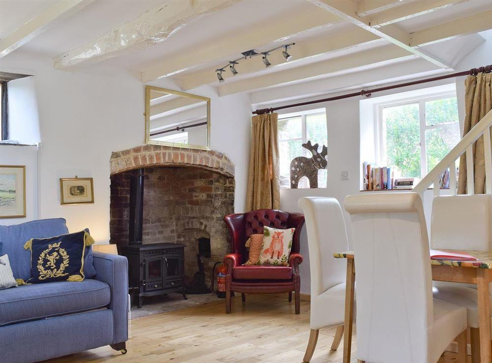 Characterful living area at Lovers Cottage,