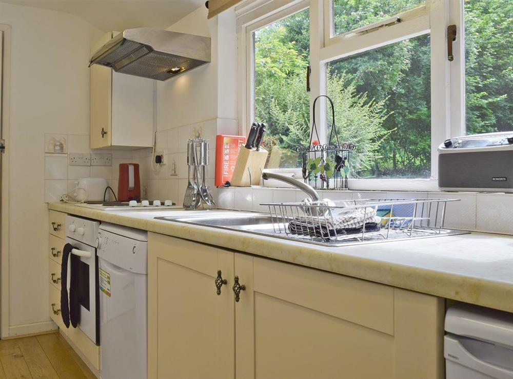Well-equipped kitchen at Lovers Cottage,