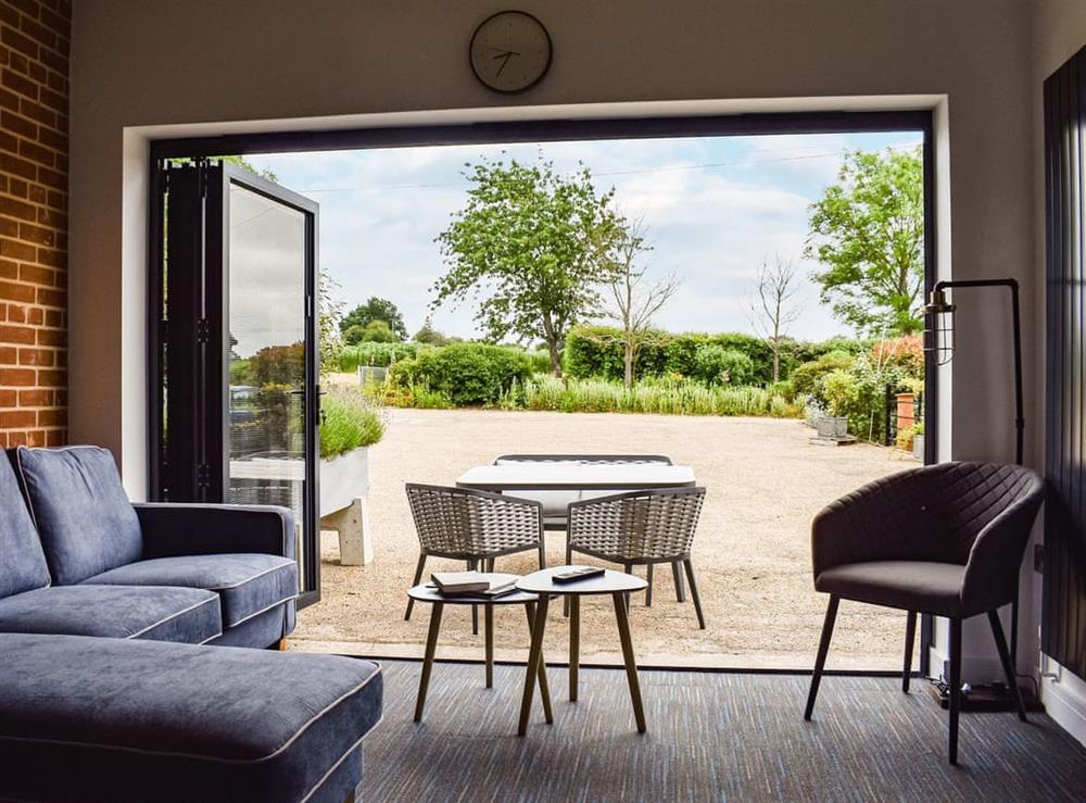 Living area at Olive Cottage in Mount Bures, Essex