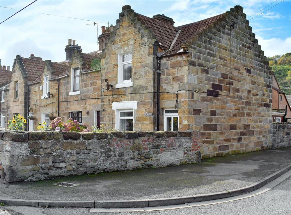 1860s, sandstone miners end of terrace cottage at One Stone Row in Skinningrove, near Saltburn-by-the-Sea, Cleveland