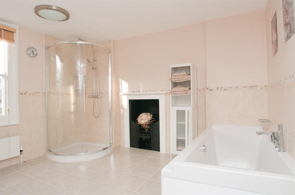 Main bathroom at Onedin House in 11 Crowthers Hill, Dartmouth