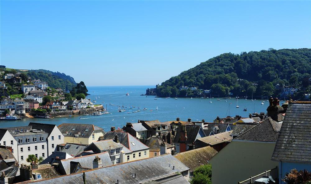 View from the balcony of the mouth of the River Dart and out to sea at Onedin House in 11 Crowthers Hill, Dartmouth