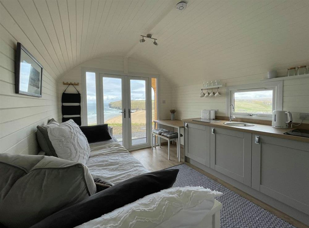Interior at Orca Pod in Strathy Bay, Caithness